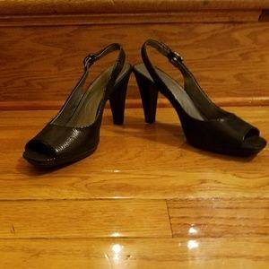 Tahari Slingback Peep Toe Heels